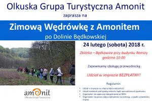 Zaproszenie na zimową wędrówkę z Grupą Turystyczną Amonit
