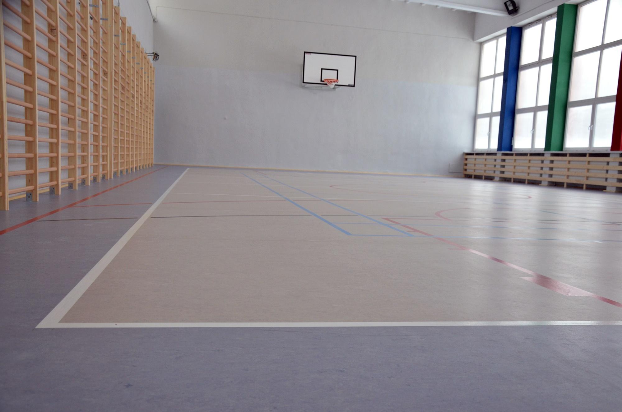 Sala gimnastyczna w SP3 w nowym blasku